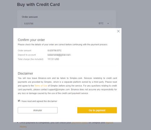 Achat de Crypomonnaies avec carte de crédit