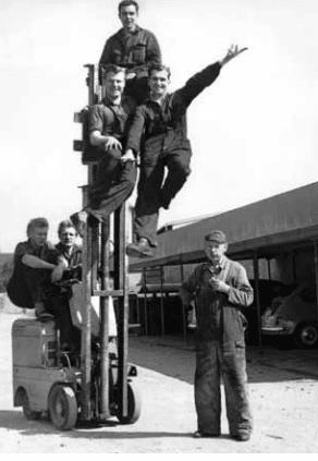 Premiers appareils de transport Jungheinrich.