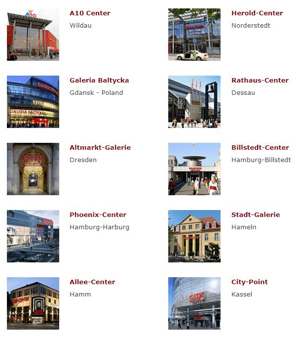liste centres euroshop