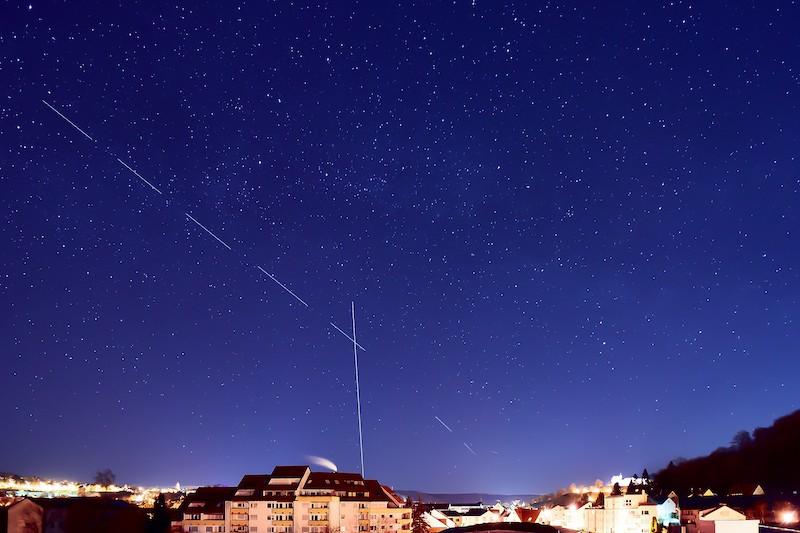 Starlink visible depuis la terre
